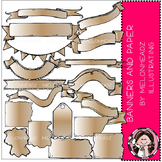 Banners and Paper clip art - COMBO PACK - by Melonheadz