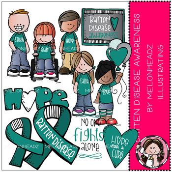 Batten Disease Awareness clip art - by Melonheadz