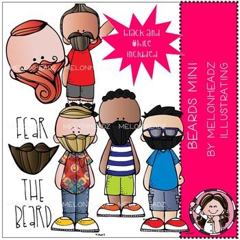 Melonheadz: Beards clip art - Mini