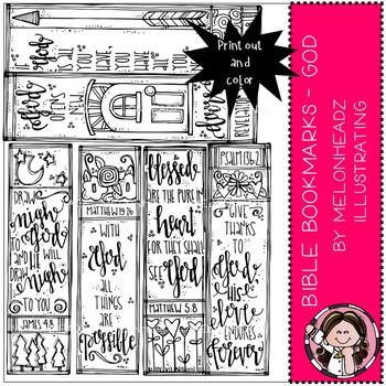Melonheadz: Bible Bookmarks clip art - Printables - God