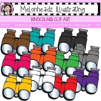 Melonheadz: Binoculars clip art - Single Image