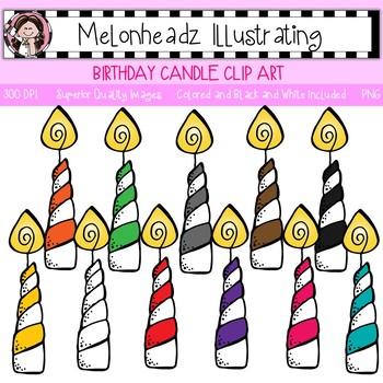 Melonheadz: Birthday Candle clip art - Single Image