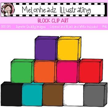 Block clip art - Single Image - by Melonheadz