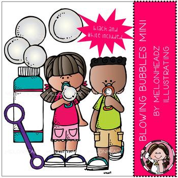 Blowing Bubbles clip art - Mini - by Melonheadz