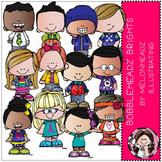 Bobbleheadz clip art - Brights - by Melonheadz