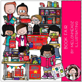 Book Fair clip art - COMBO PACK - by Melonheadz