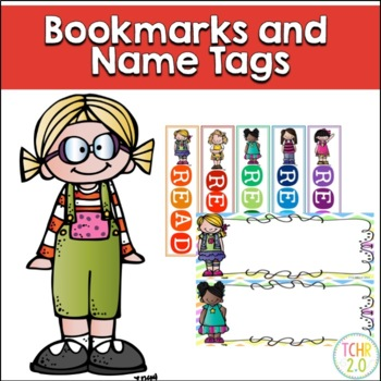 Bookmarks and Name Tags Bundle