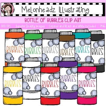 Melonheadz: Bottle of Bubbles clip art - Single Image
