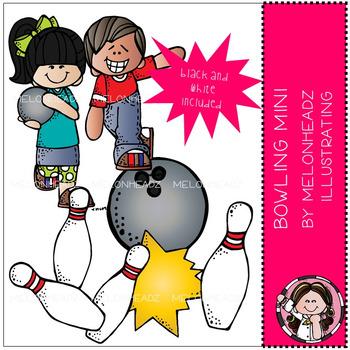 Melonheadz: Bowling clip art Mini set