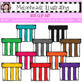 Melonheadz: Box clip art - Single Image