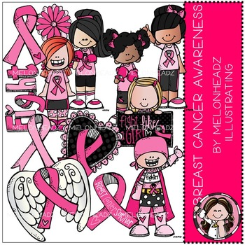 Breast Cancer Awareness clip art - COMBO PACK - by Melonheadz
