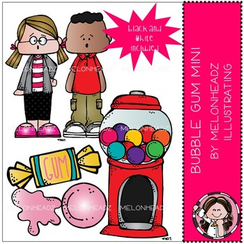 Melonheadz: Bubble Gum clip art Mini Set