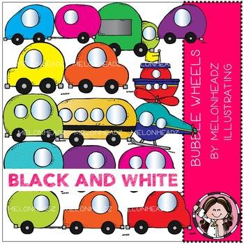 Melonheadz: Bubble Wheels BLACK AND WHITE