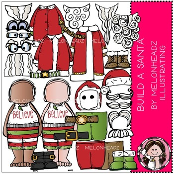 Build A Santa clip art - by Melonheadz