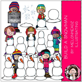 Build A Snowman clip art - by Melonheadz