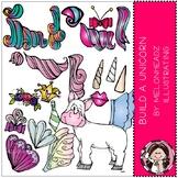 Build a Unicorn clip art - COMBO PACK - by Melonheadz