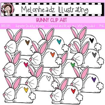 Melonheadz: Bunny clip art - Single Image
