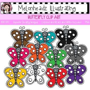 Melonheadz: Butterfly clip art - Single Image