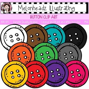Melonheadz: Button clip art - Single Image