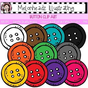 Button clip art - Single Image - by Melonheadz