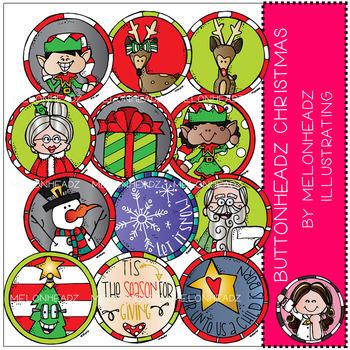 Melonheadz: Buttonheadz Christmas clip art - Combo Pack