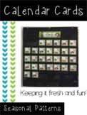 Patterned Calendar Cards