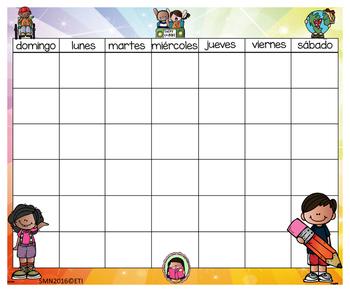 Melonheadz Calendar & Numbers (24x20) Bilingual