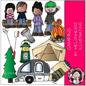 Melonheadz: Camping clip art - COMBO PACK