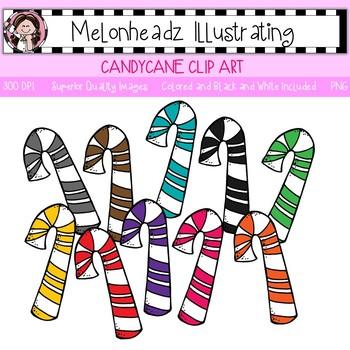 Melonheadz: Candy Cane clip art - Single Image
