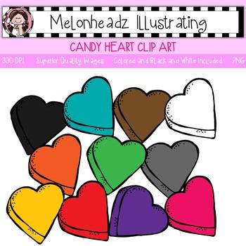 Candy Heart clip art - Single Image - by Melonheadz