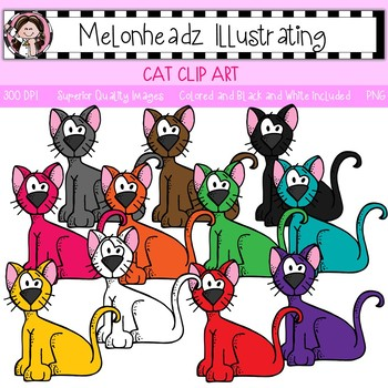 Melonheadz: Cat clip art - Single Image
