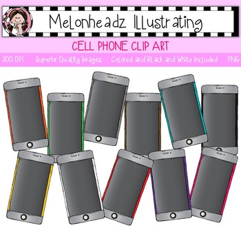 Melonheadz: Cell Phone clip art - Single Image