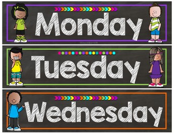 Melonheadz Chalkboard Brights Calendar Set