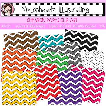 Melonheadz: Chevron Paper clip art - Single Image