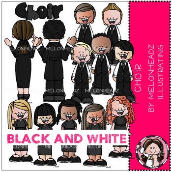 Melonheadz: Choir clip art - BLACK AND WHITE