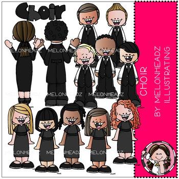 Melonheadz: Choir clip art - COMBO PACK
