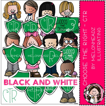 Melonheadz: Choose the right clip art - LDS - BLACK AND WHITE