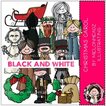 Melonheadz: Christmas Carol BLACK AND WHITE