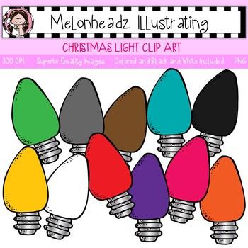 Melonheadz: Christmas Light clip art - Single Image