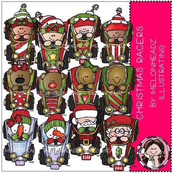 Christmas Racers clip art - Race Cars - by Melonheadz
