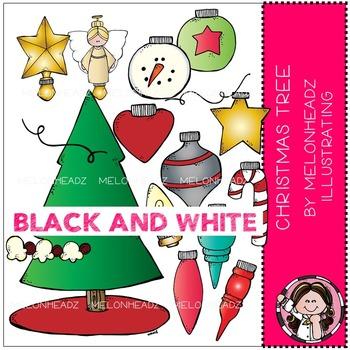 Melonheadz: Christmas Tree BLACK AND WHITE