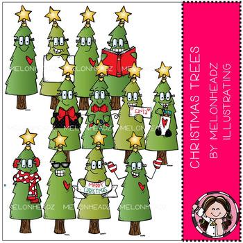 Melonheadz: Christmas Trees clip art