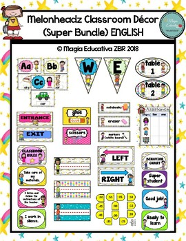 Melonheadz Classroom Decor (Super Bundle) ENGLISH