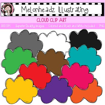 Melonheadz: Cloud clip art - Single Image