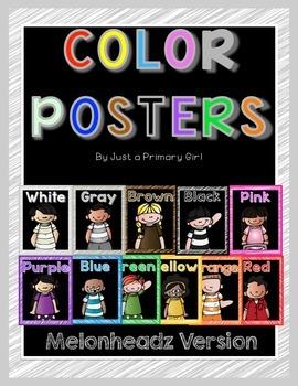 Melonheadz Color Posters Black Background