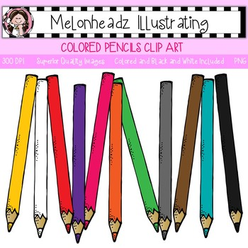 Colored Pencil clip art - Single Image - by Melonheadz