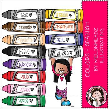 Melonheadz: Colors clip art - Spanish