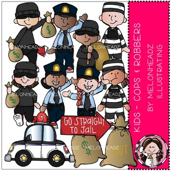 Melonheadz: Cops and Robbers clip art - Kids - Combo Pack