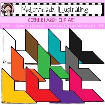 Melonheadz: Corner clip art - Large - Single Image