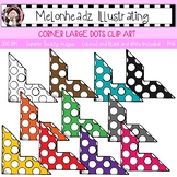Corner clip art - Large with dots - Single Image - by Melonheadz